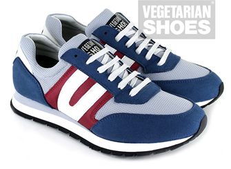 Vegan Runner (Navy/Grey/Red)