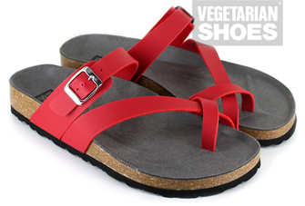 Toe Strap Sandal (Red)