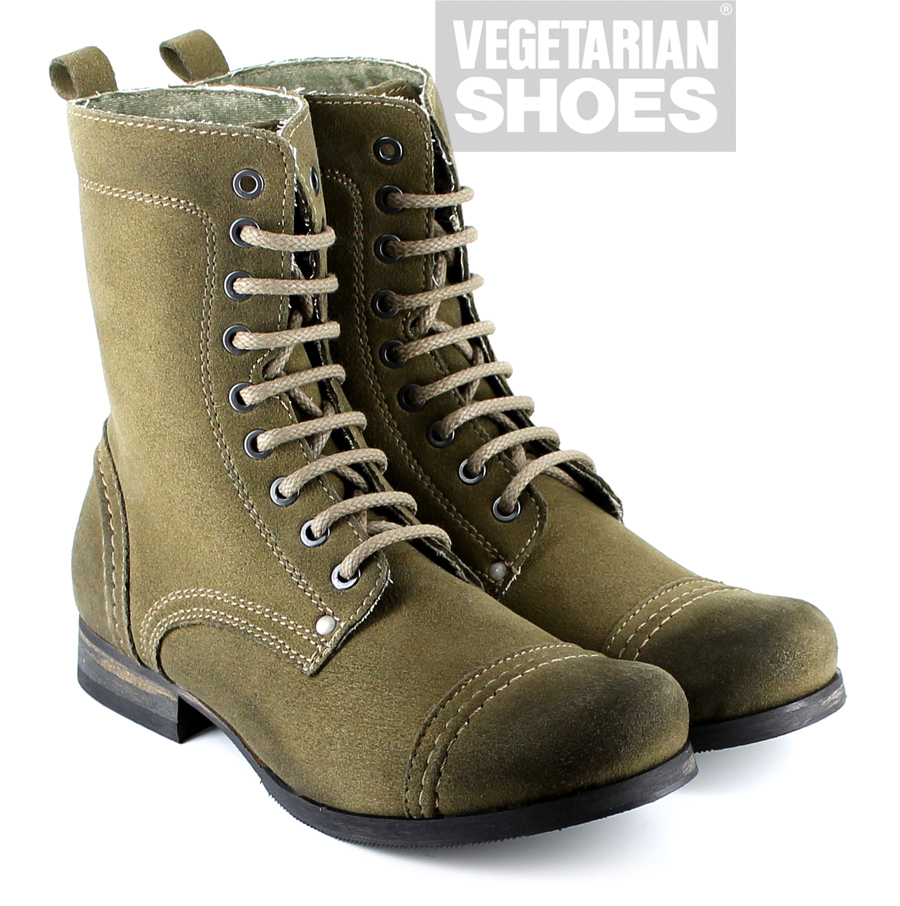 Vintage Boot Olive Green Mens Boots