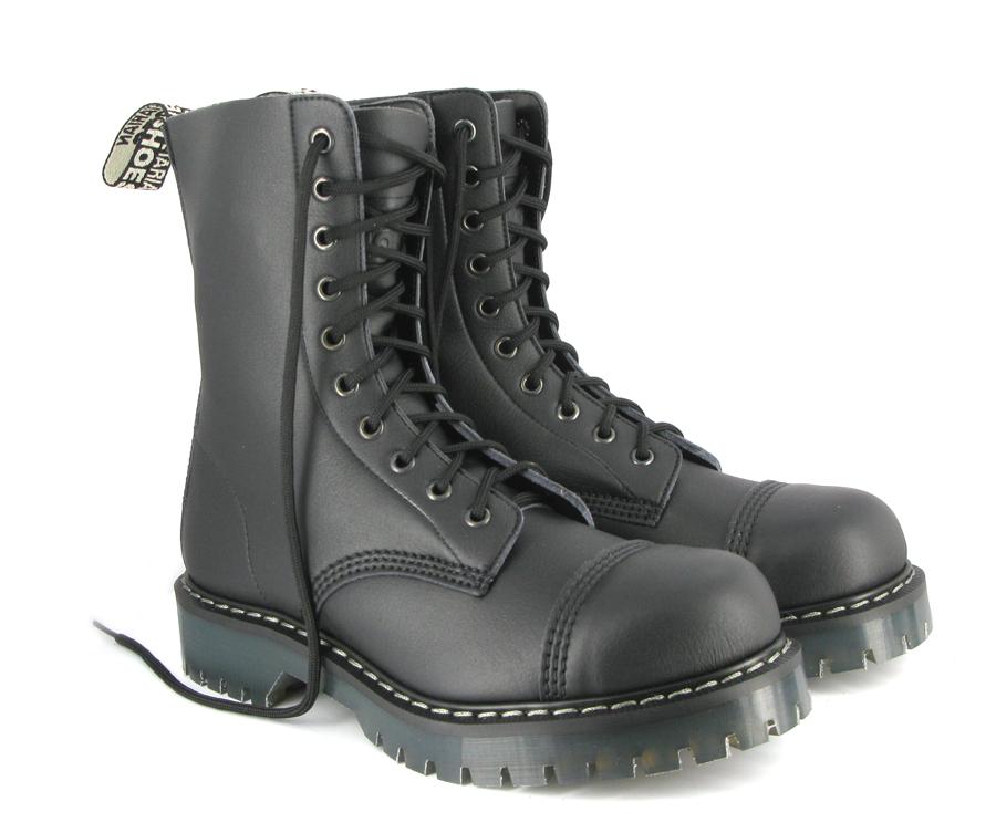 Airseal 10 Eye Boot Steel Toe Black Airseal Boots