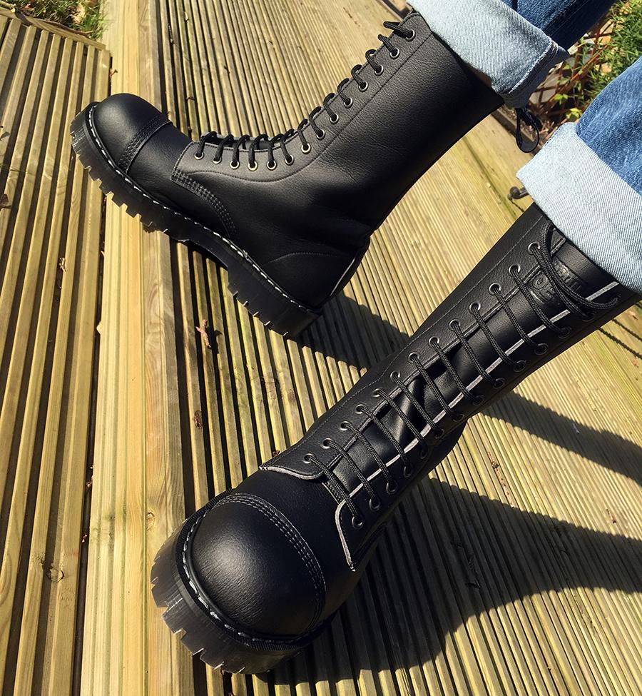 Airseal 14 Eye Boot Steel Toe Black Airseal Boots