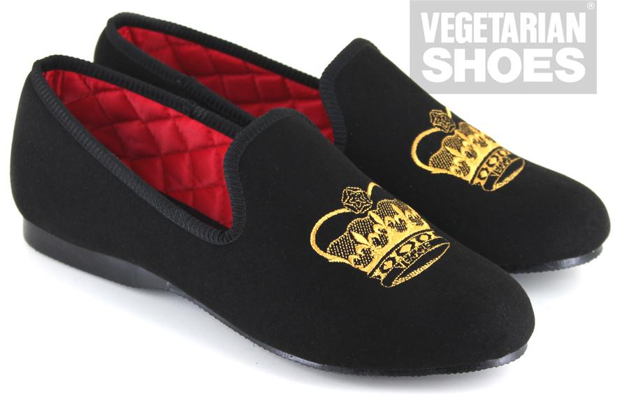 Crown Slipper Black Mens Shoes