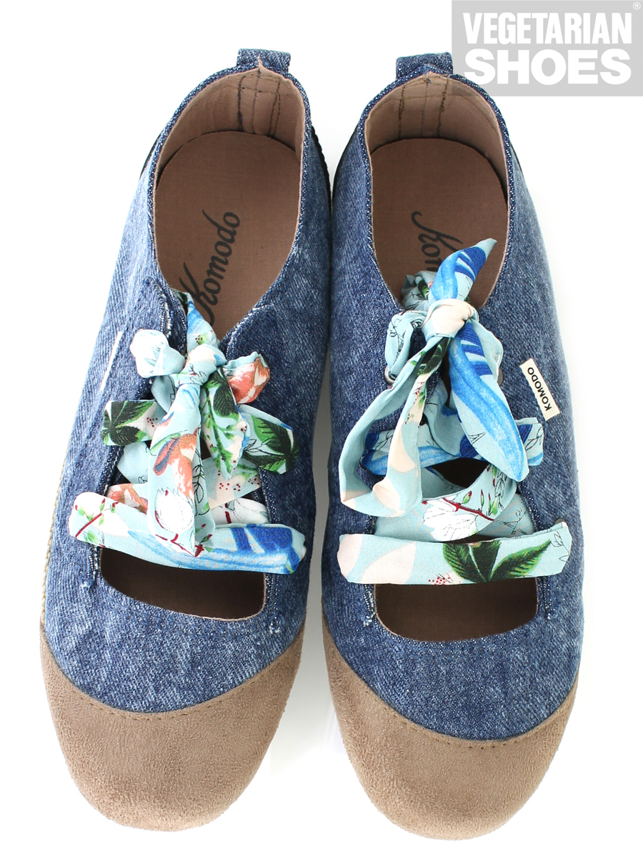 Bali Ballet Denim Womens Shoes