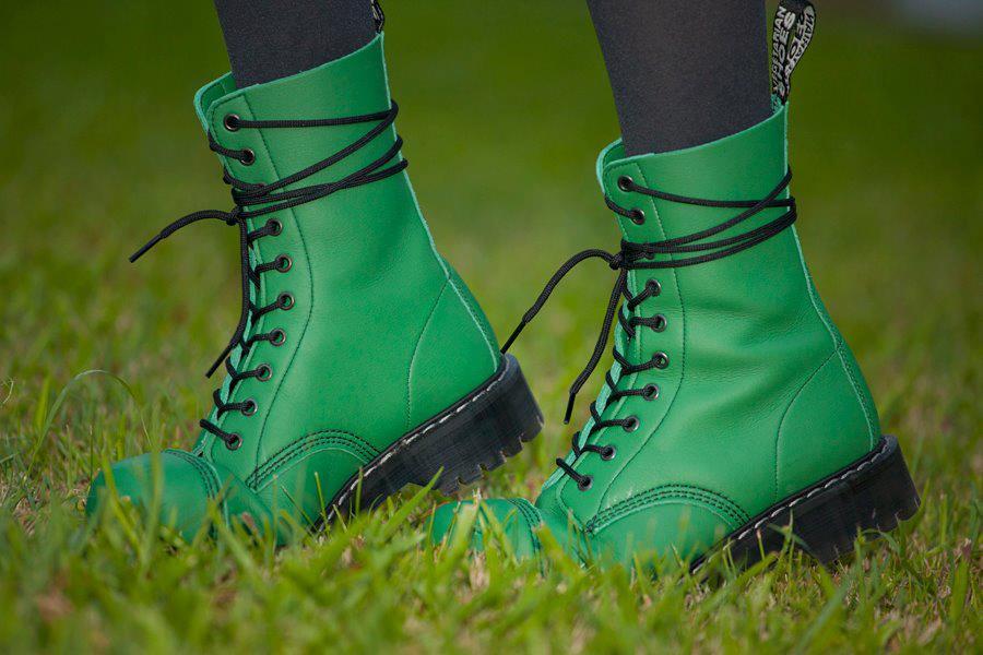 Airseal 10 Eye Boot Steel Toe Green Womens Boots
