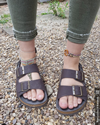Two Strap Sandal (Brown)