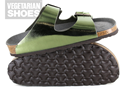 Two Strap Sandal (Metalic Green)