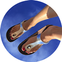 Toe Post Sandal (Metallic Silver)