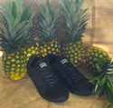 Chevron Sneaker Pineapple (Black)