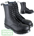 Airseal Troopa 10 Eye Zip Boot (Black)