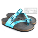 Toe Strap Sandal (Metallic Blue)
