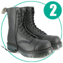 Airseal 10 Eye Steel Toe (Black)