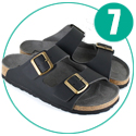 Two Strap Sandal (Black)