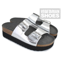 Wedge Sandal (Metallic Silver)